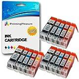 15 Tintenpatronen kompatibel zu Canon BCI-3 BCI-6 für Canon Bubble Jet i860 i865 Pixma iP4000 iP5000 MP750 MP760 MP780 BJI-9100 - Schwarz (groß)/Schwarz (klein)/Cyan/Magenta/Gelb, hohe Kapazität
