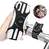 MOSUO Handyhalterung Fahrrad, Universal Motorrad Halterung Fahrrad Silikon Verdicken mit 360°Drehbarer Abnehmbare Handy Fahrradhalterung Lenker Rennrad für 4,5-7,0 Zoll Smartphone