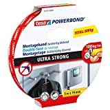 tesa Powerbond ULTRA STRONG - Doppelseitiges, extra starkes Montageband zur permanenten Befestigung im Außen- und Innenbereich - 5 m