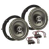 tomzz Audio 4057-006 Lautsprecher Einbau-Set passend für VW Golf 4 5 6 7 Polo Passat Up Amarok Jetta Lupo EOS 165mm Koaxial System TA16.5-Pro