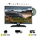 Gelhard GTV-1682 LED DVD 15,6 Zoll 40cm Fernseher Full-HD Wide Screen, DVB-S / S2 -T / T2 12/24 /...