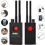 ZGYQGOO Bug Detector Anti-Spion Drahtloser RF-Signaldetektor Scanner Versteckte Kamera Finder mit Doppelantenne für GPS Tracker GSM Listening Device Finder