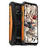Ulefone Armor 8 Pro Smartphones Wasserdicht - Android 11 Outdoor Handys ohne Vertrag Staubdicht Fallfester AI Qcta-Core Prozessor 6+128GB 6,1-Zoll-Bildschirm 16MP+5MP+2MP+8MP Kameras (Orange)