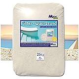MGS SHOP Filtersand Quarzsand geprüfte Qualität Körnung wählbar (0.71-1.25mm)