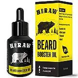 HERAW Beard Booster Oil – Bartöl für Männer – Nährende Gesunde Bartpflege & Styling verbessert Bartwachstum, Weichheit und deinen Stil - Öl für den Bart aus Arganöl, Jojobaöl und Mandelöl - 30 ml