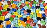 300g Soft Glas-Mosaiksteine unregelmäßig (Polygonal) bunt, nicht lichtdurchlässig ca.170 St.