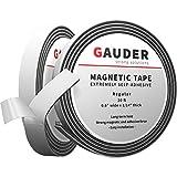 GAUDER Magnetband selbstklebend   Magnetstreifen mit extra starkem Kleber   Magnetklebeband