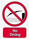 Wassersprung Verboten, Swimming Pool, Dive Alert Warnschild Caution Badehose klein