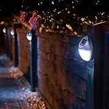 8 Solar Betriebene LED Zaun Leuchten Außen Wand Garten Weg Tür Beleuchtung Neu