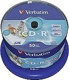Verbatim CD-R AZO 700 MB - 52-fache Brenngeschwindigkeit - CD-Rohlinge - Bedruckbar - 50 Stück Spindel