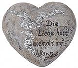 Uljö Grabschmuck (Herz) Die Liebe hört niemals auf