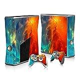 SKINOWN Cosmic Nebular Skin Sticker für Xbox 360 Slim Konsole und Fernbedienungen