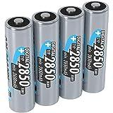 ANSMANN Akku AA Typ 2850mAh NiMH 1,2V - Mignon AA Batterien wiederaufladbar, mit hoher Kapazität ideal für hohen Strombedarf wie Foto-Blitz, Taschenlampe, Controller, Kamera (4 Stück)