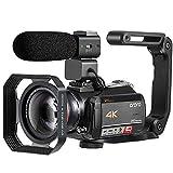 4K Camcorder ORDRO AC5 4K Ultra HD WiFi Videokamera 12x Optischer Zoom 3,1 Zoll IPS Touchscreen 1080P 60FPS Camcorder Video Camera mit Mikrofon und Weitwinkelobjektiv
