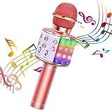 BlueFire Karaoke Mikrofon, Bluetooth Mikrofon Kinder, Tanzen LED Lichter Drahtlose Tragbares...