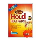 Supchamp Wärmepflaster 10 Stück - Selbstklebend Schmerzpflaster Wärmekissen für Rücken, Nacken, Schulter und Bauch - Wärmepads Schmerzlinderung 12 Stunden Angenehme Wärme 100% Natürlich