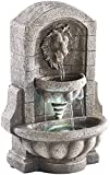 infactory Wasserbrunnen: Beleuchteter Zimmerbrunnen Löwenkopf mit LED und Pumpe (Kleine Zimmerbrunnen)