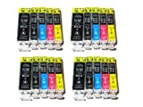 *TITOPATEN* - 20x Canon Pixma IP 4000 kompatible XL Druckerpatronen - Grosse Schwarz,Photo Schwarz,Cyan,Magenta,Gelb - Patronen OHNE CHIP !!!Hohe Laufleistung!!!