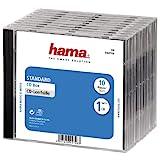Hama CD-Leerhülle Schutzhülle (Standard) 10er-Pack, transparent-schwarz