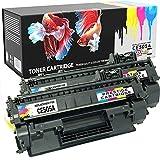 Prestige Cartridge CRG719 Tonerkartuschen für Canon LBP-6300DN/LBP-6650DN/MF-5840DN/MF-5880DN, Twinpack, schwarz