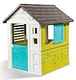 Smoby 810710 – Pretty Haus - Spielhaus für Kinder für drinnen und draußen, erweiterbar durch Zubehör, Gartenhaus für Jungen und Mädchen ab 2 Jahren