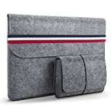 HOMIEE 13-13.3 Zoll Laptoptasche mit extra Aufbewahrungsbox, Filz Sleeve Hülle Laptop Ultrabook Notebook Tasche, Netbook, Tablet Hülle Ultrabook für 13' MacBook Air Pro, Dell, Lenovo, HP, Tasche