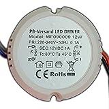 LED Trafo 12 Watt 12V DC rund kreis Leuchtmittel Transformator Netzteil Driver Vorschaltgerät Unterputzdose Verteilerdose