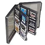 VCOER Grau 3DS Spiel Kassettenboxen Dekorative Accessoires Spielkassette Schutzhülle 28 Eine Karte Pack 3DSll Plastic Crystal Hard Case Protective Cover For Nintendo 3DS