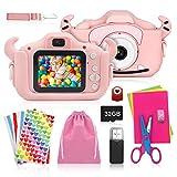 ShengRuHai Kinderkamera, Digitalkamera Kinder mit USB Ladefunktion, Ausgestattet mit 32 GB...