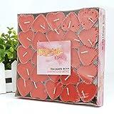 tqwy 50Set romantische Liebe Herz Form Pudding Duft Rauchfreie Duft Kerzen