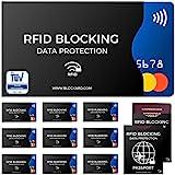 TÜV geprüfte RFID Blocking NFC Schutzhüllen (12 Stück) für Kreditkarten EC-Karten Bankkarten...