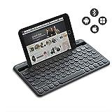 Jelly Comb Kabellose Tastatur, Bluetooth Funktastatur mit Dual-Kanal für Android/Windows Tablet,...