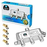 HB-DIGITAL SAT - BK - UKW - Verteiler 3-Fach Splitter (3-Wege) * 5-2400 MHz * digital & analog -...