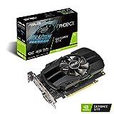 ASUS NVIDIA GeForce GTX 1650 Phoenix OC 4G Gaming Grafikkarte (PCIe 3.0, 4GB DDR5 Speicher, HDMI,...