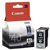 Canon PG-40 original Tintenpatrone  Schwarz für Pixma Inkjet Drucker MP140-MP150-MP160-MP170-MP180-MP190-MP210-MP220-MP450-MP450x-MP460-MP470-iP1200-iP1300-iP1600-iP1700-iP1800-iP1900-iP2200-iP2500-iP2600