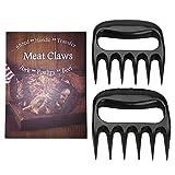 Pulled Pork Krallen - LURICO Hochwertige Meat Claws für BBQ Pulled Pork - Fleischkrallen aus Kunststoff zum Zerteilen - Spülmaschinenfeste Bärentatzen - Schwarz
