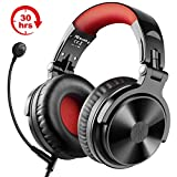 Bluetooth Kopfhörer Wireless OneOdio Over Ear Kopfhörer Kabellos mit 30 Stunden Spielzeit On Ear Headphones mit Surround Sound Wired Gaming Headset mit Kabel & Boom Mic für PC PS4 Handy