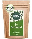 Brennnesselblätter-Tee Bio 250g - Brennesseltee - lose Blätter - 100% Bio Brennnessel-Kräuter - Abgefüllt und kontrolliert in Deutschland (DE-ÖKO-005)