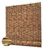 Bambusrollo,Durchscheinend Rollo Bambus,Retro Carbonization Natural Schilf Vorhang Bambus Handgewebt Sonnenschutzrollos,FüR Outdoor Fenster Und TüRen AußEnterrasse(Size:80 * 130cm/32 * 51in)