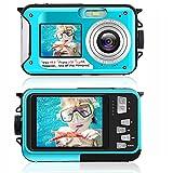Unterwasserkamera 2.7K wasserdichte Kamera 48 MP Digitalkamera Unterwasserkamera Dual Screen LCD...