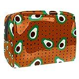 Tragbare Make-up-Tasche mit Reißverschluss, Reise-Kulturbeutel für Frauen, praktische Aufbewahrung, Kosmetiktasche, Vollbild-Obstsamen