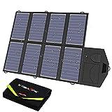 X-DRAGON Solar Ladegerät 40W 18V SunPower Faltbar Solar Panel Outdoor Ladegerät (5V USB + 18V DC)...