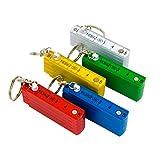jameitop 5X Mini Zollstock Meterstab 50cm als Schlüsselanhänger in fünf Farben