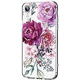 Hülle für iPhone XR Hülle Weich Silikon Handyhülle Blumen Schlank Floral Handytasche Flexible...