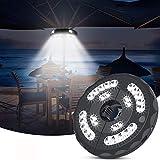 LED Sonnenschirm Beleuchtung CrazyFire 28 LED Außenleuchten Sonnenschirm Beleuchtung Lampe 3 Modi Super Helle Notlicht Batterie betrieben und USB aufladen für Garten Strand BBQ Party Camping