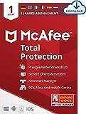 McAfee Total Protection 2021   1 Geräte   1 Jahr   Antivirus Software, Virenschutz-Programm,...