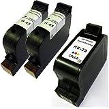 Druckerpatronen Refill, im 3er Sparset, ersetzt HP 23 und HP 45, Liefermenge 2x Black (45) und 1x...
