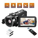 Videokamera Camcorder FHD 36MP IR-Nachtsicht 1080P Digitalkamera für YouTube mit Pausenfunktion...
