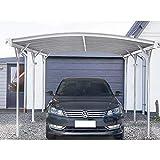 Home Deluxe - Design Carport weiß - Falo - Maße: 505 x 300 x 226/240 cm - komplett inkl. Montagematerial