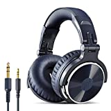 OneOdio Over Ear Kopfhörer mit Kabel, 50mm Treiber, Bassklang, 6.35 & 3.5mm Klinke, Share-Port, Geschlossene Studio Headphones für DJ, Podcast, Monitor, Handy, PC, MP3/4 (Pro-10 Blau)